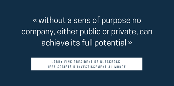 without a sens of purpose no company, either public or private, can achieve its full potential